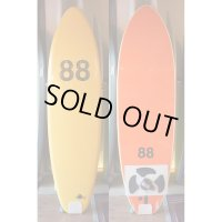 "【88 surfbords】6'6"" Thuruster/Yellow-Orange"