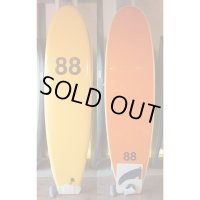 "【88 surfbords】7'0"" Single /Yellow-Orange"