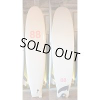 "【88 surfbords】8'0"" Single/White pink logo"