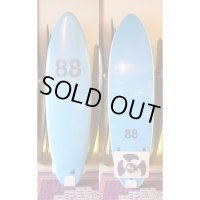 "【88 surfbords】6'6"" Thuruster/Blue-Blue"
