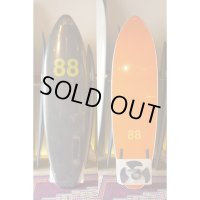 "【88 surfbords】6'6"" Thuruster/Black-Orange"