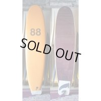 "【88 surfbords】8'0"" Single/Orange-Wine Black"
