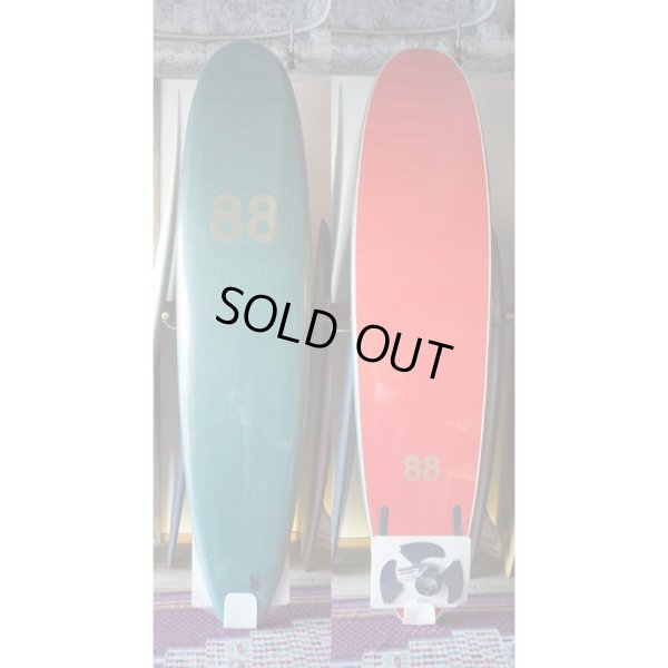 "画像1: 【88 surfbords】8'0"" Thuruster /Olive-Red"