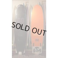 "【88 surfbords】7'0"" Thuruster /Jack Coleman Color Black-Orange"