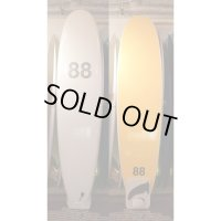 "【88 surfbords】8'0"" Single /White-Yellow"