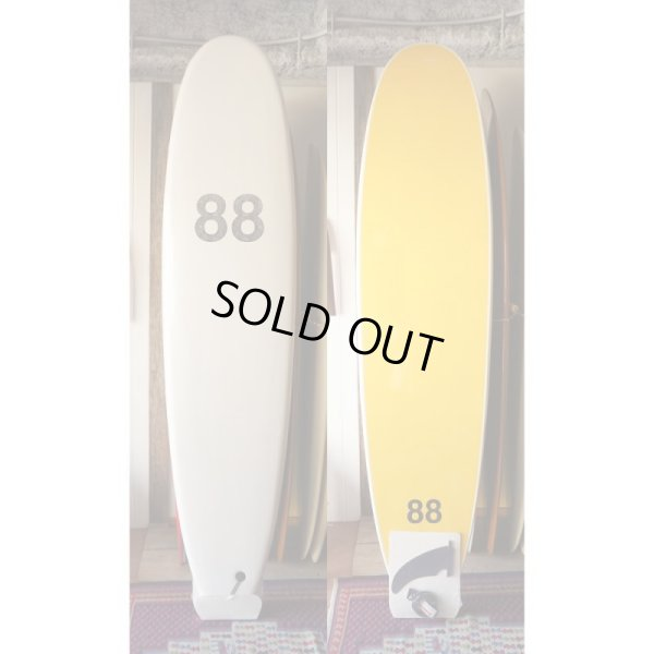 "画像1: 【88 surfbords】8'0"" Single /white-yellow"