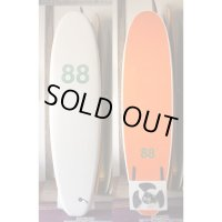 "【88 surfbords】7'0"" Thuruster White-Orange"