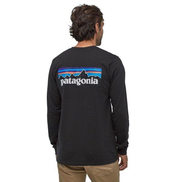 画像3: 【PATAGONIA/パタゴニア】メンズ・ロングスリーブ・P-6ロゴ・レスポンシビリティー/Black (BLK)