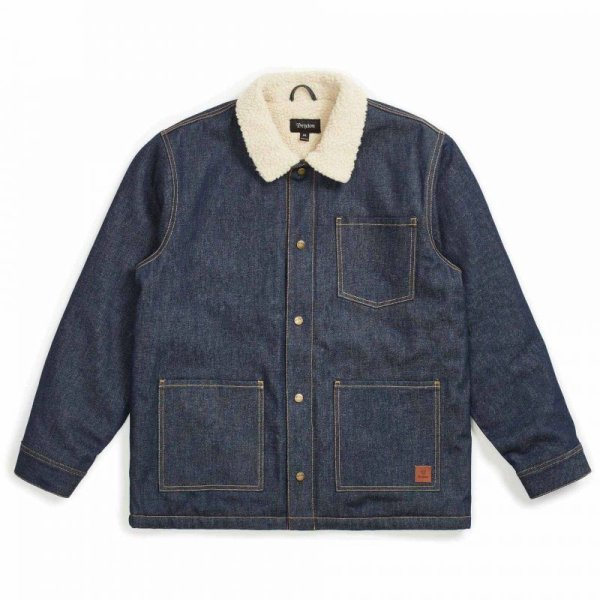 画像1: 20%OFF【BRIXTON/ブリクストン】YARD SHERPA DENIM JACKET - RAW INDIGO