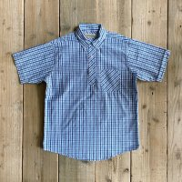 【Yellow Rat】Pull-over BD Shirt/Royal x Light Blue/M