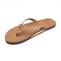 【RAINBOW SANDALS/レインボーサンダル】Women's 301/Luxury Leather - Single Layer Arch  Support/Buckskin