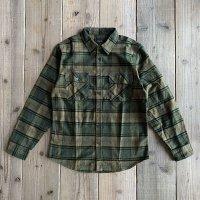【BRIXTON/ブリクストン】BOWERY L/S Flannel/Evergreen
