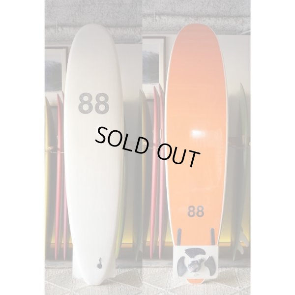"画像1: 【88 surfbords】8'0"" Thuruster /White/Orange"