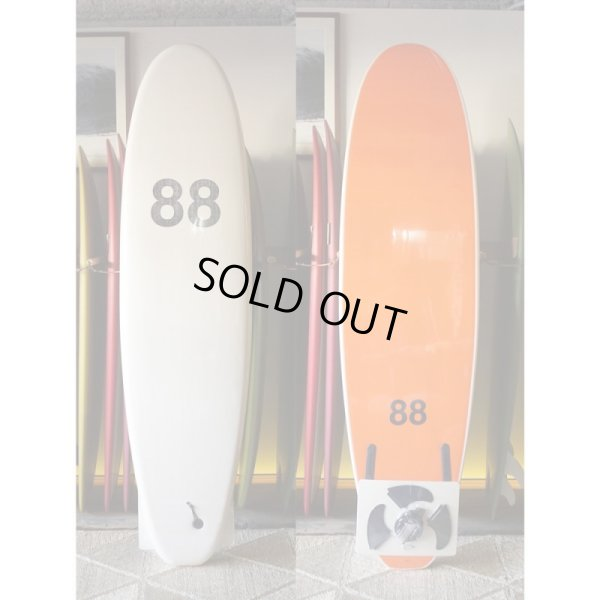 "画像1: 【88 surfbords】7'0"" Thuruster /White/Orange"