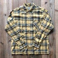 【Yellow Rat】Convertible Collar Button Down Shirt /Yellow - Navy