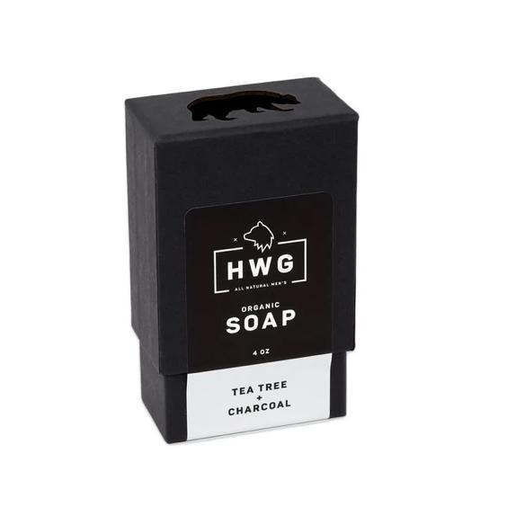 画像1: 【HARDWORKING GENETLEMEN】ORGANIC TEA TREE CHARCOAL SOAP